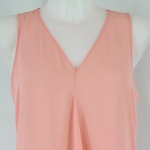 Vince Camuto Pink Flowy Tank Top Size Small